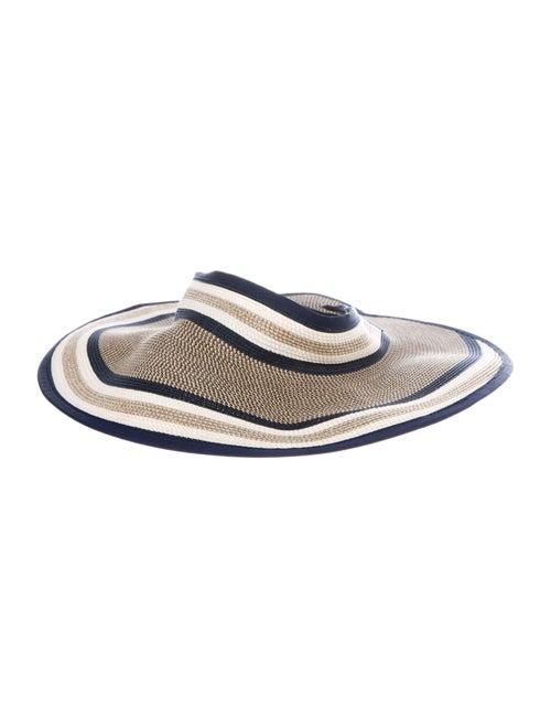 Eric Javits Straw Wide-Brim Hat Beige