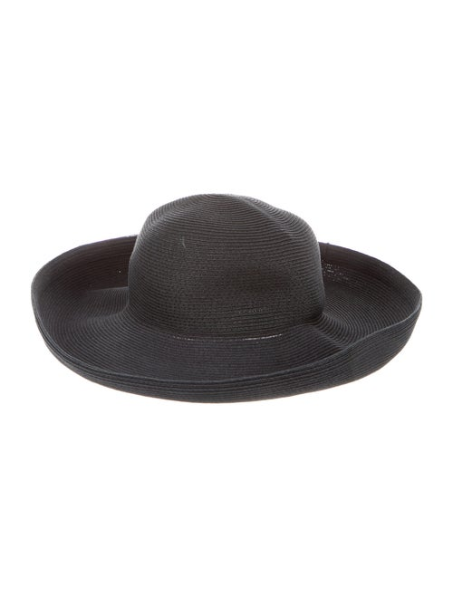 Eric Javits Raffia Wide-Brim Hat Black