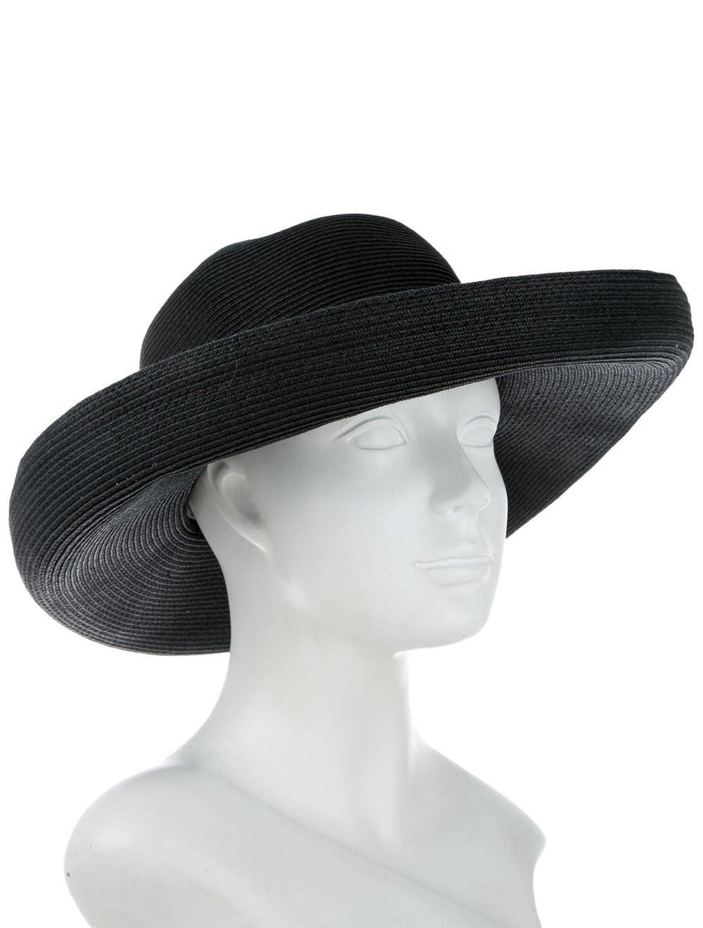Eric Javits Raffia Wide-Brim Hat Black - image 3