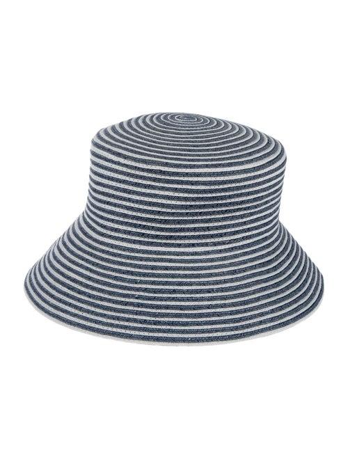 Eric Javits Woven Wide Brim Hat Blue