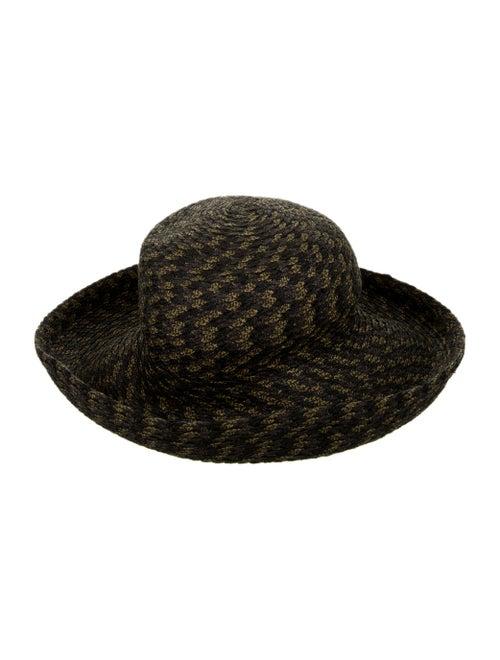 Eric Javits Straw Woven Hat Grey - image 1