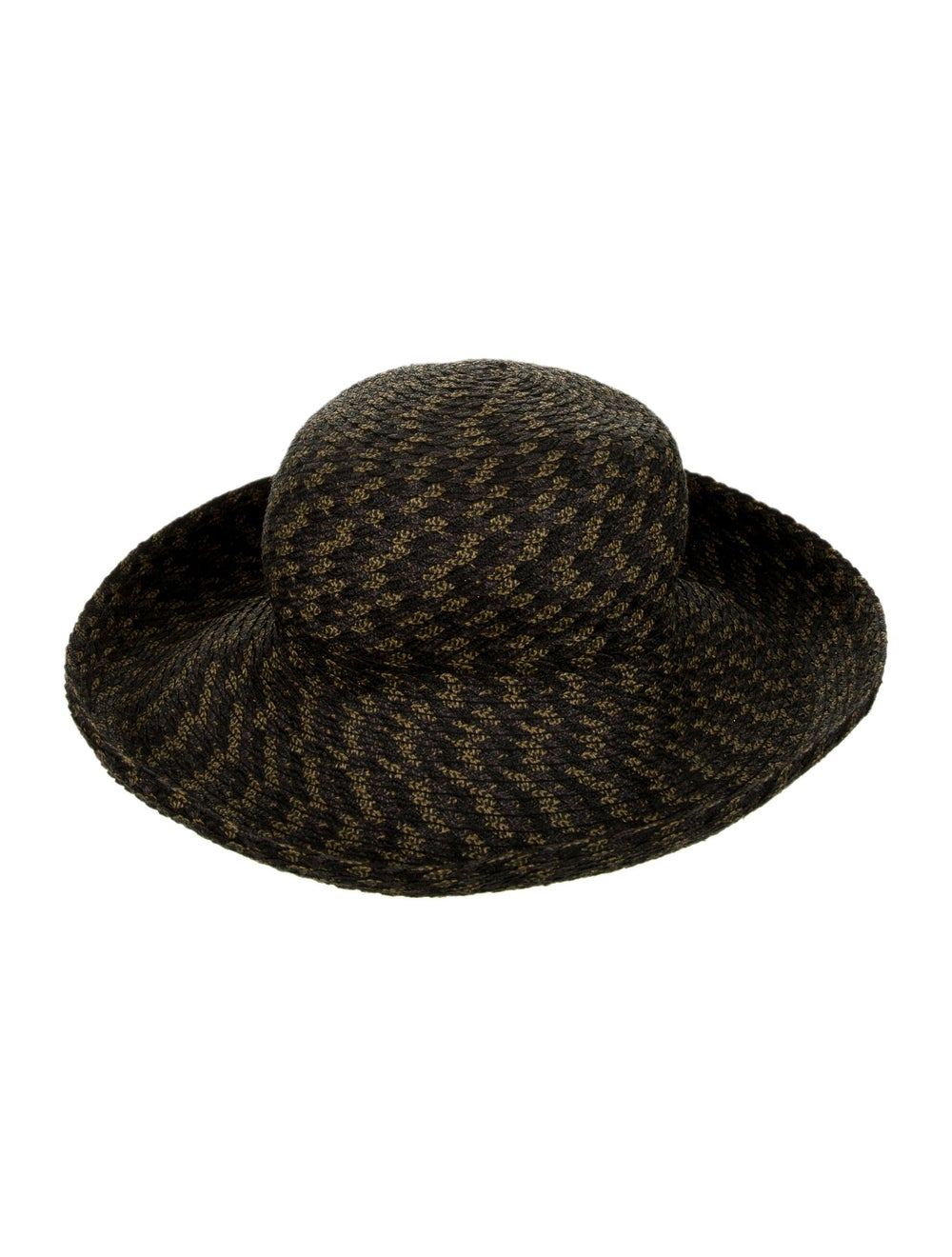 Eric Javits Straw Woven Hat Grey - image 2