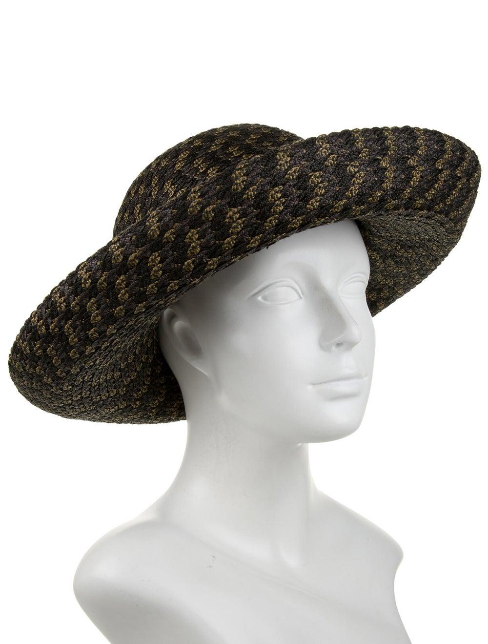 Eric Javits Straw Woven Hat Grey - image 3