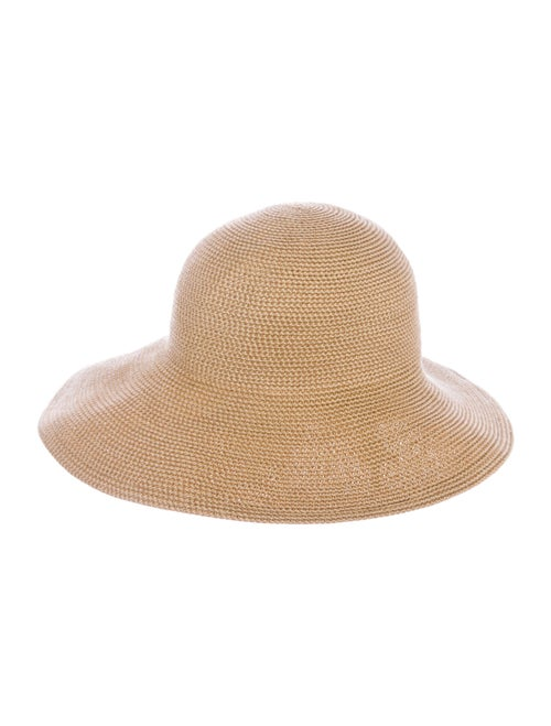 Eric Javits Straw Wide Brim Hat Tan