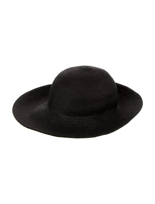 Eric Javits Wide Brim Straw Hat Black