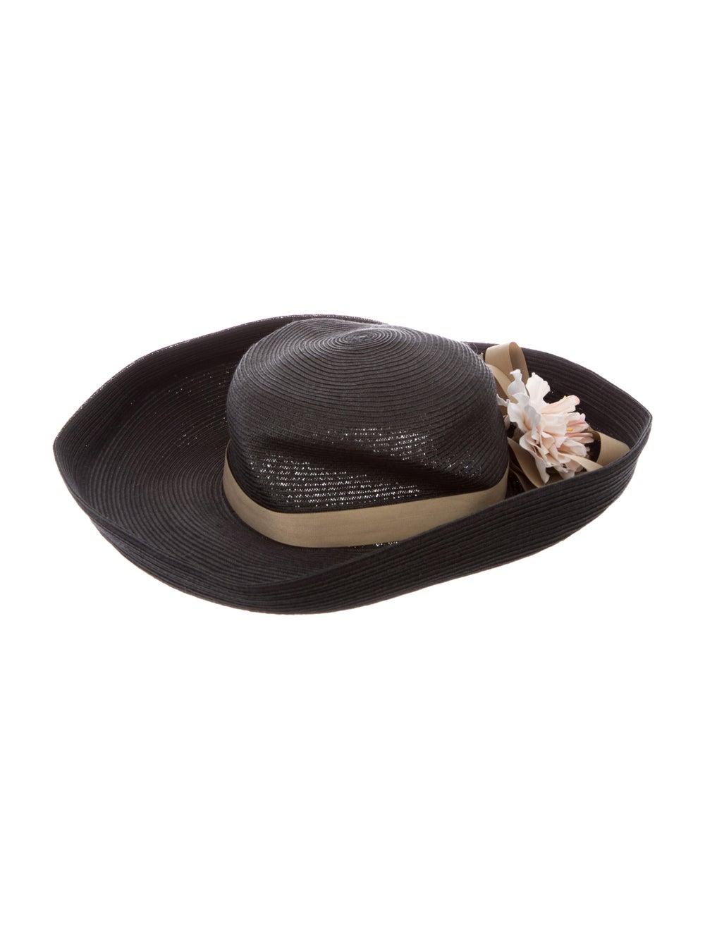 Eric Javits Straw Wide Brim Hat Grey - image 1