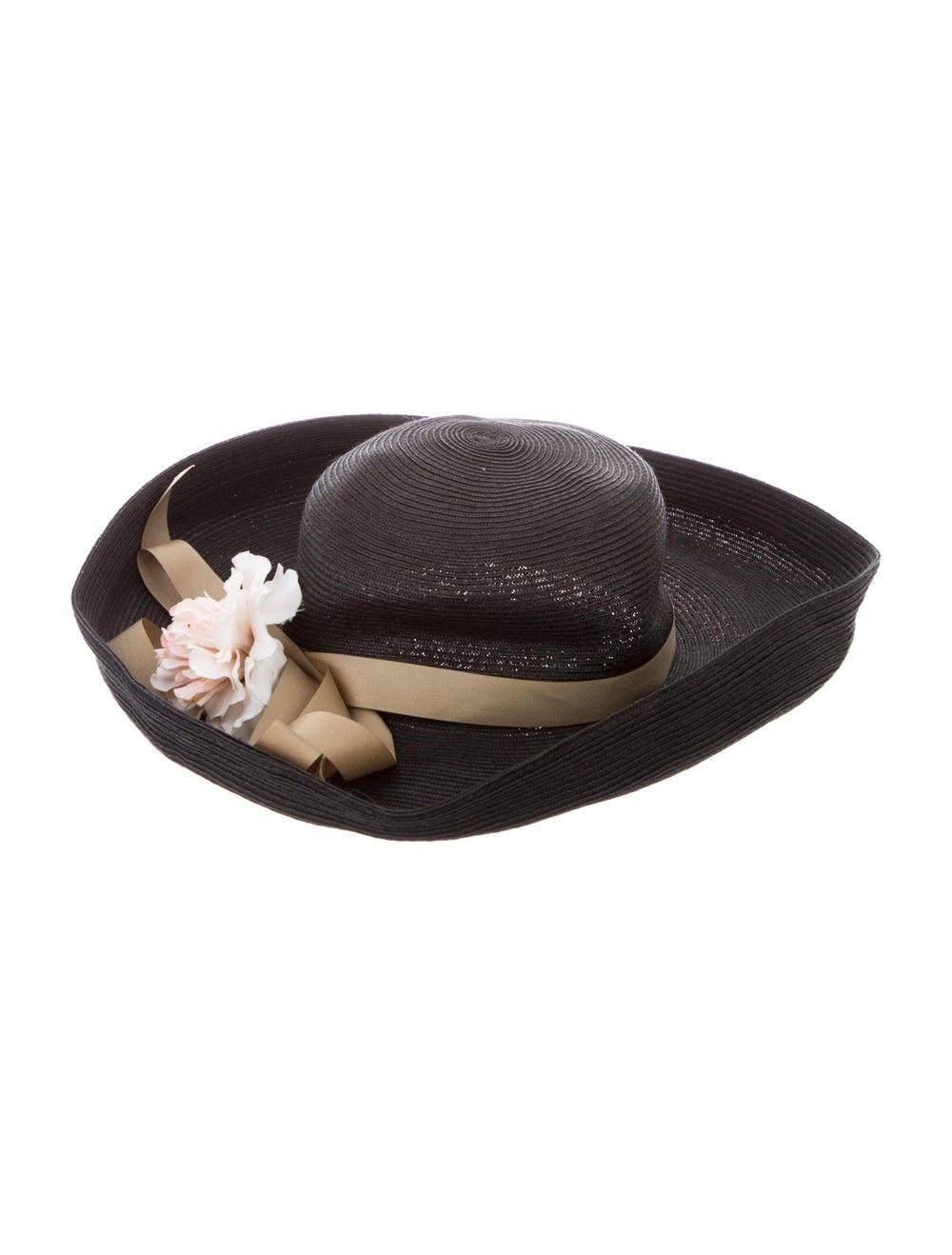 Eric Javits Straw Wide Brim Hat Grey - image 2