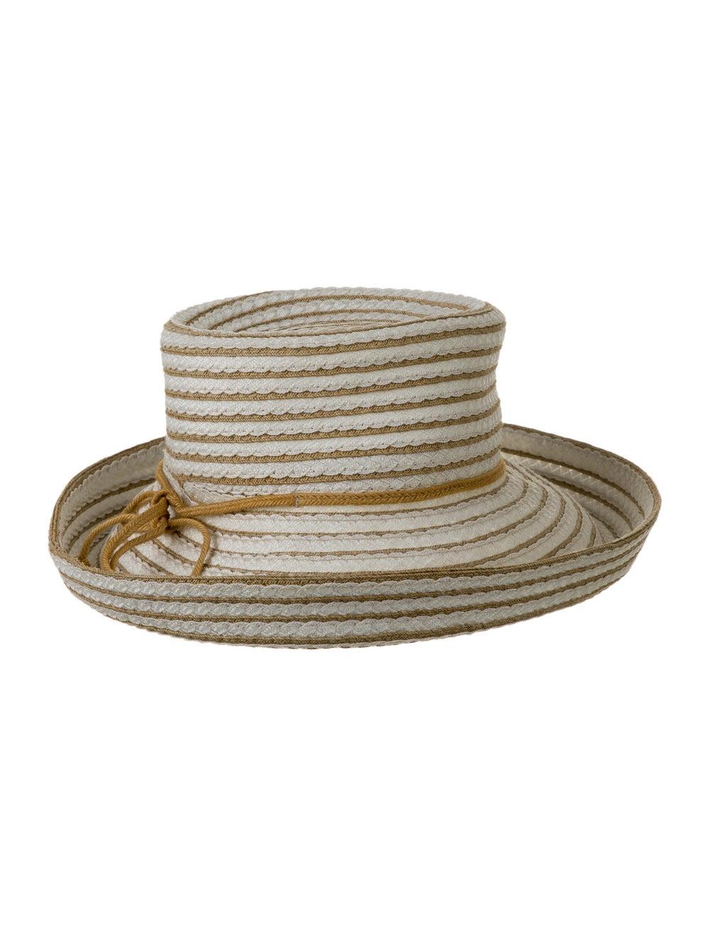 Eric Javits Straw Wide Brim Hat White - image 1