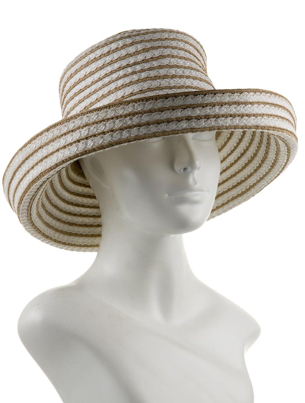 Eric Javits Straw Wide Brim Hat White - image 3
