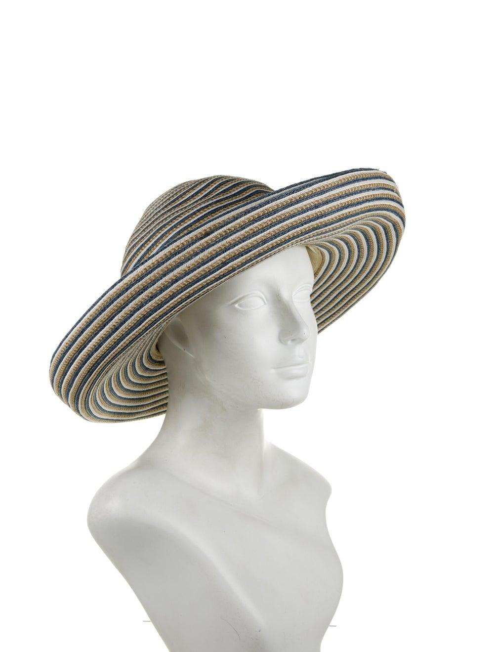 Eric Javits Margot Straw Hat Blue - image 3