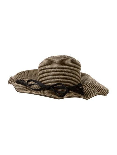Eric Javits Wide-Brimmed Straw Hat Tan - image 1