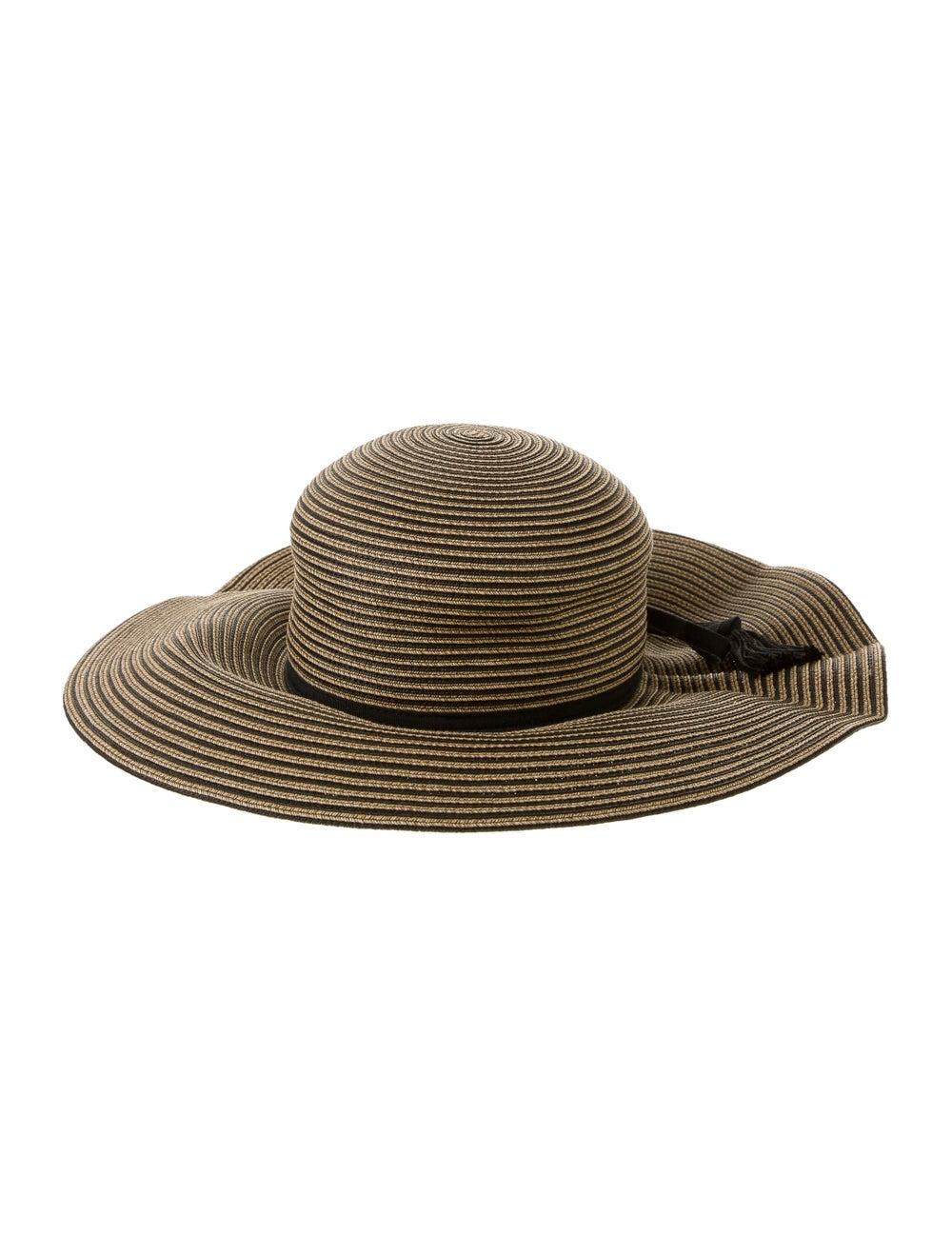 Eric Javits Wide-Brimmed Straw Hat Tan - image 2
