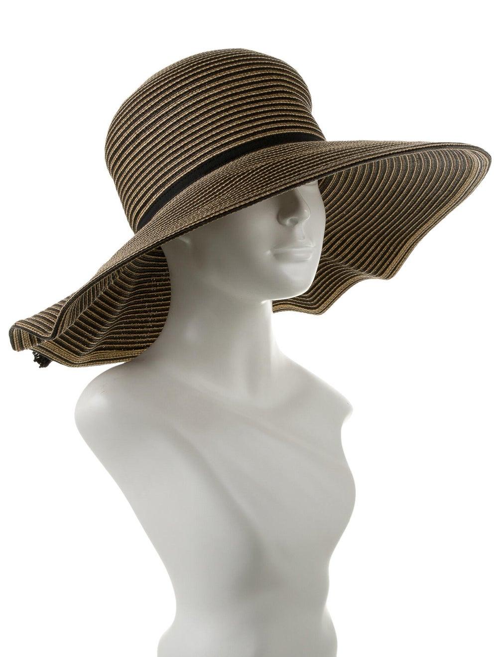 Eric Javits Wide-Brimmed Straw Hat Tan - image 3
