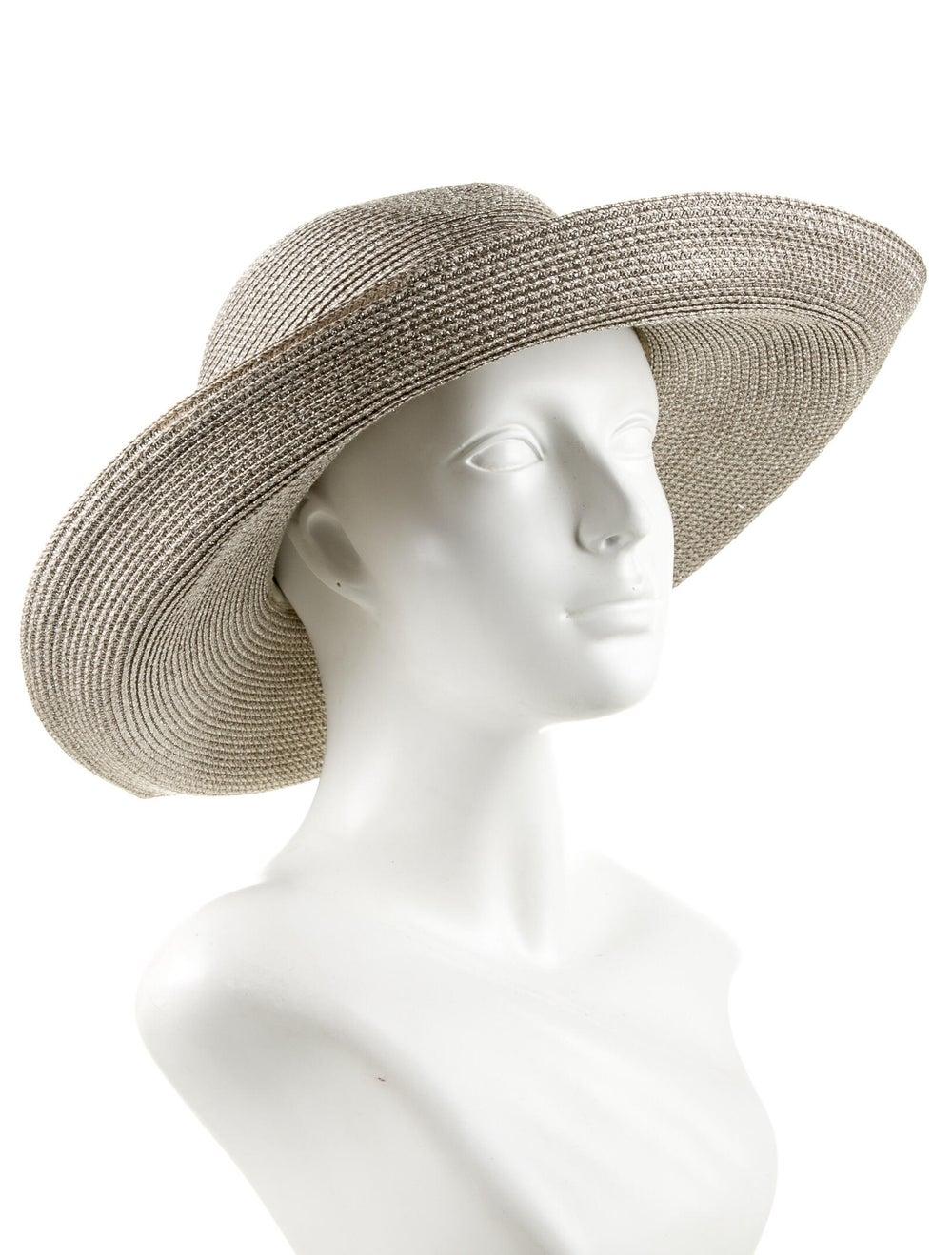 Eric Javits Straw Sun Hat metallic - image 3