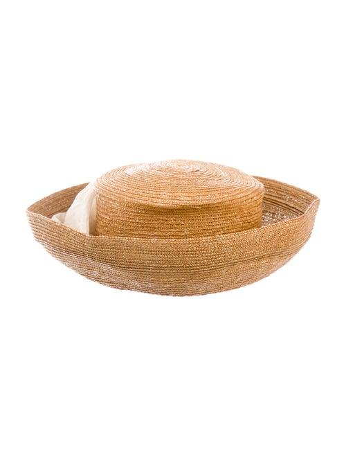 Eric Javits Straw Sun Hat Tan - image 1