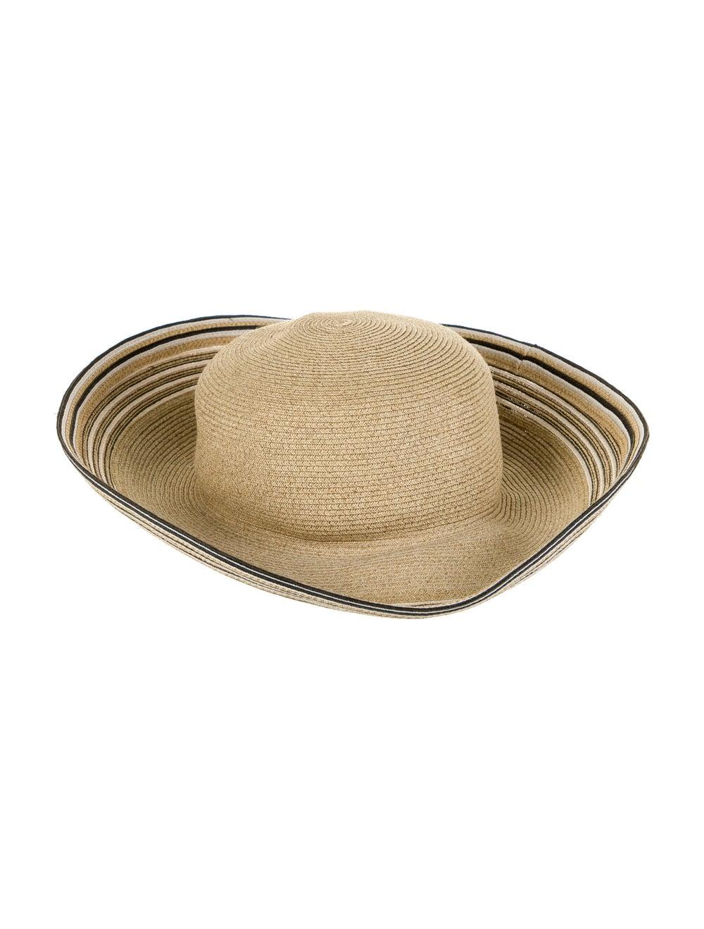 Eric Javits Straw Wide Brim Hat Beige - image 1