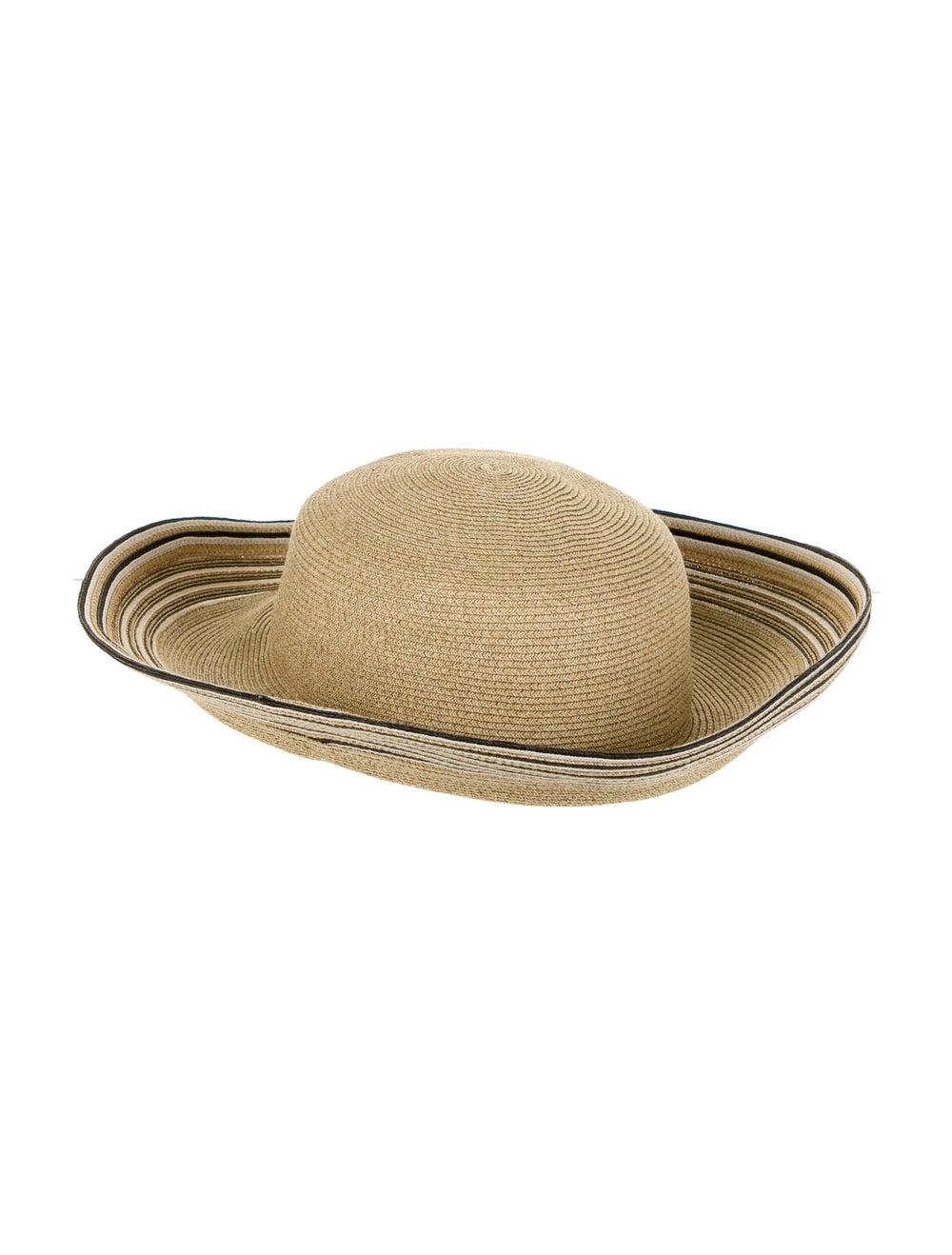 Eric Javits Straw Wide Brim Hat Beige - image 2