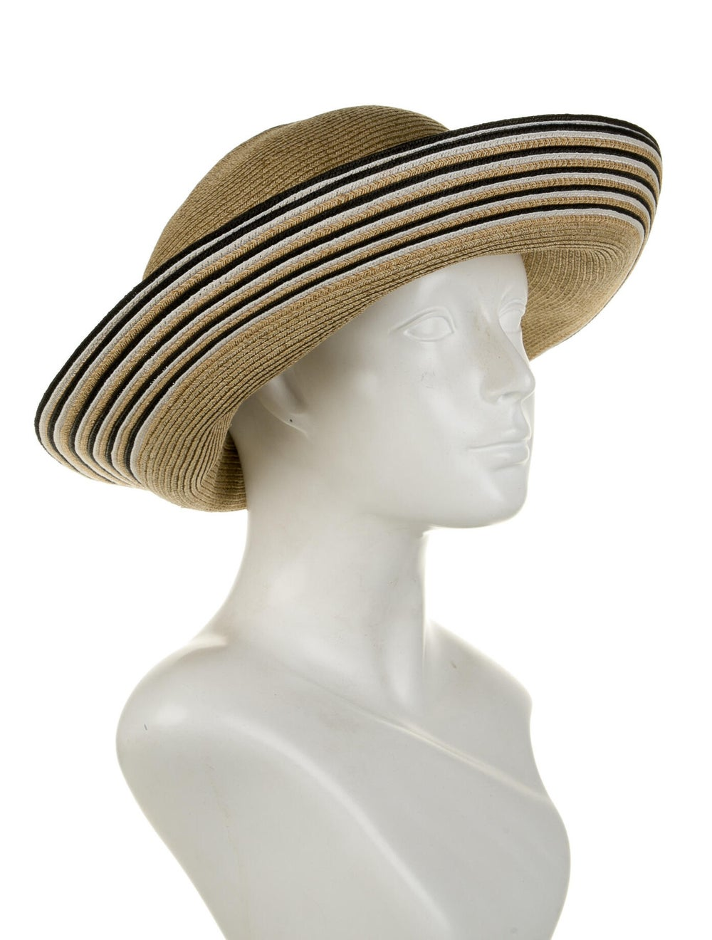 Eric Javits Straw Wide Brim Hat Beige - image 3