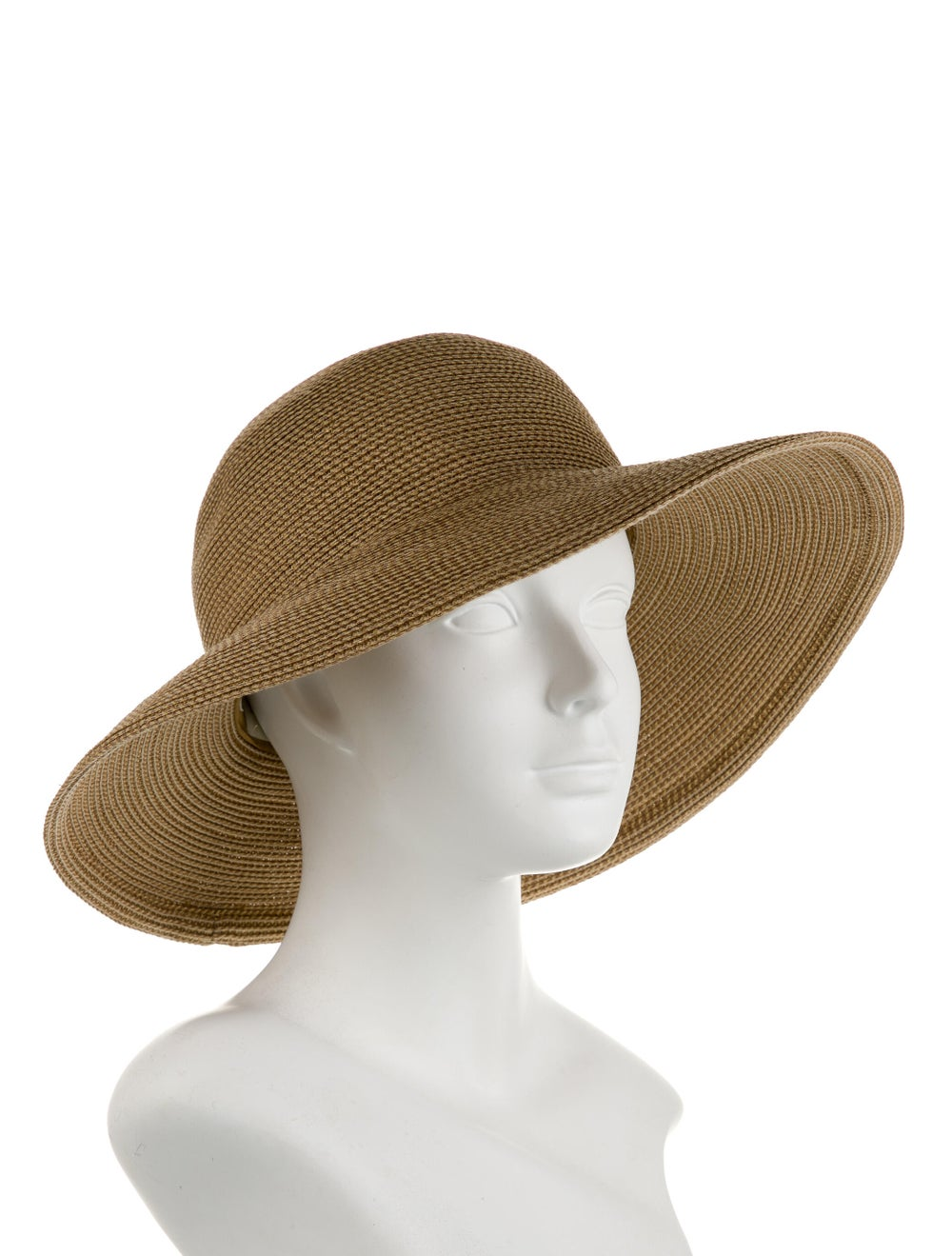 Eric Javits Wide Brim Hat Tan - image 3