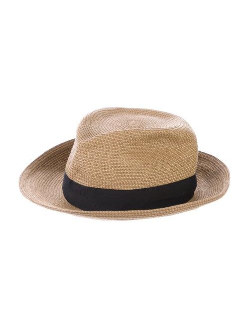 Eric Javits Straw Fedora Hat Natural - image 1