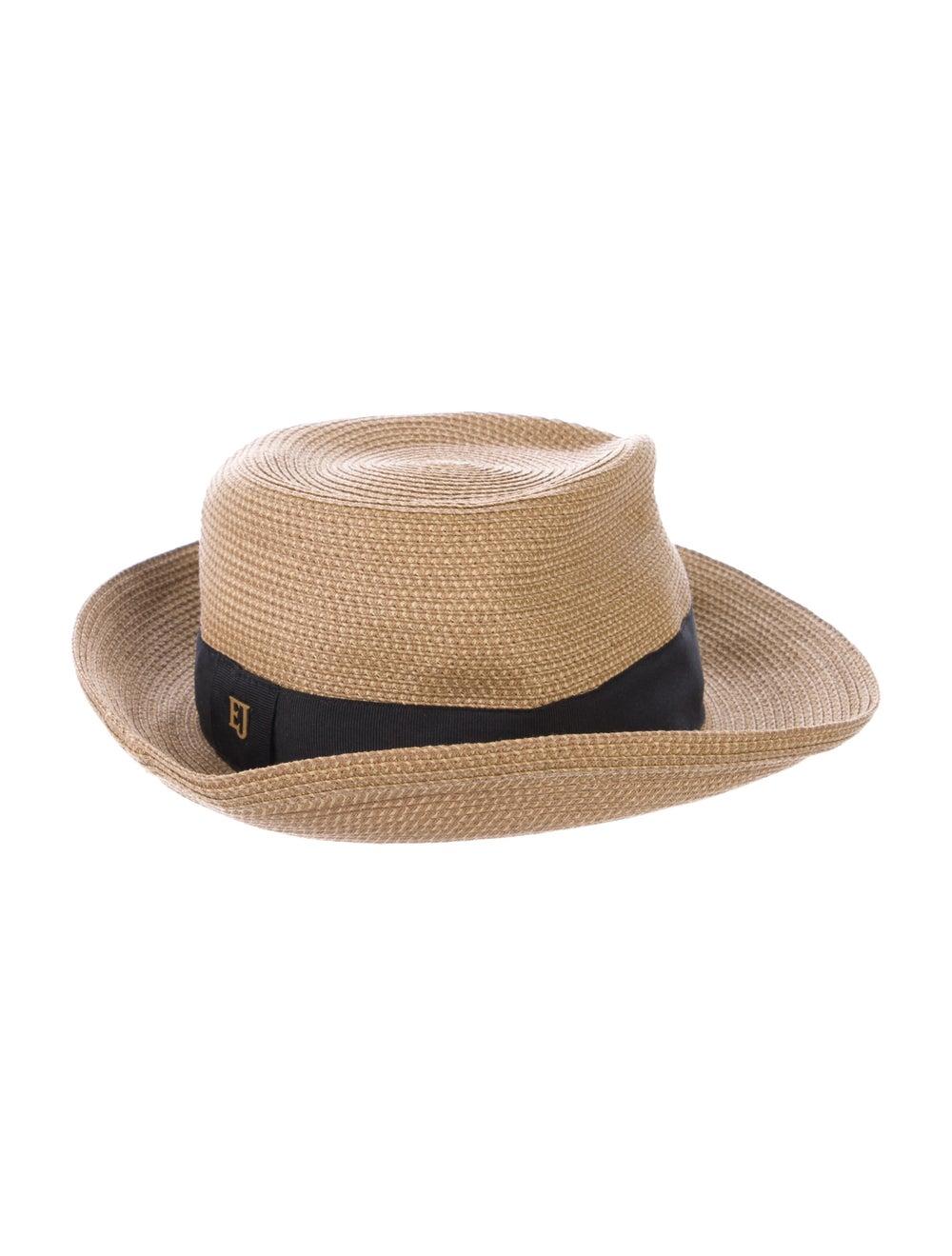 Eric Javits Straw Fedora Hat Natural - image 2