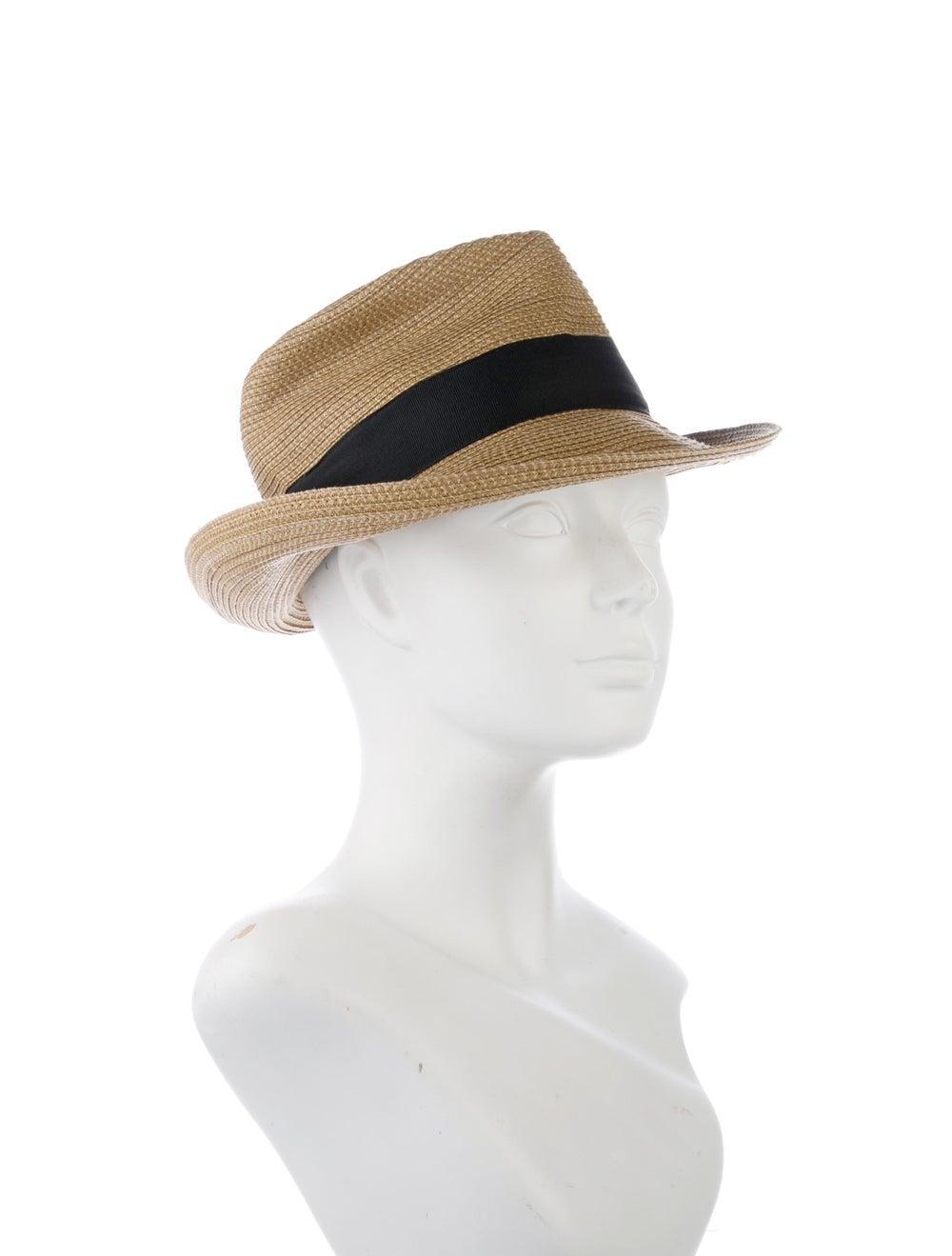 Eric Javits Straw Fedora Hat Natural - image 3