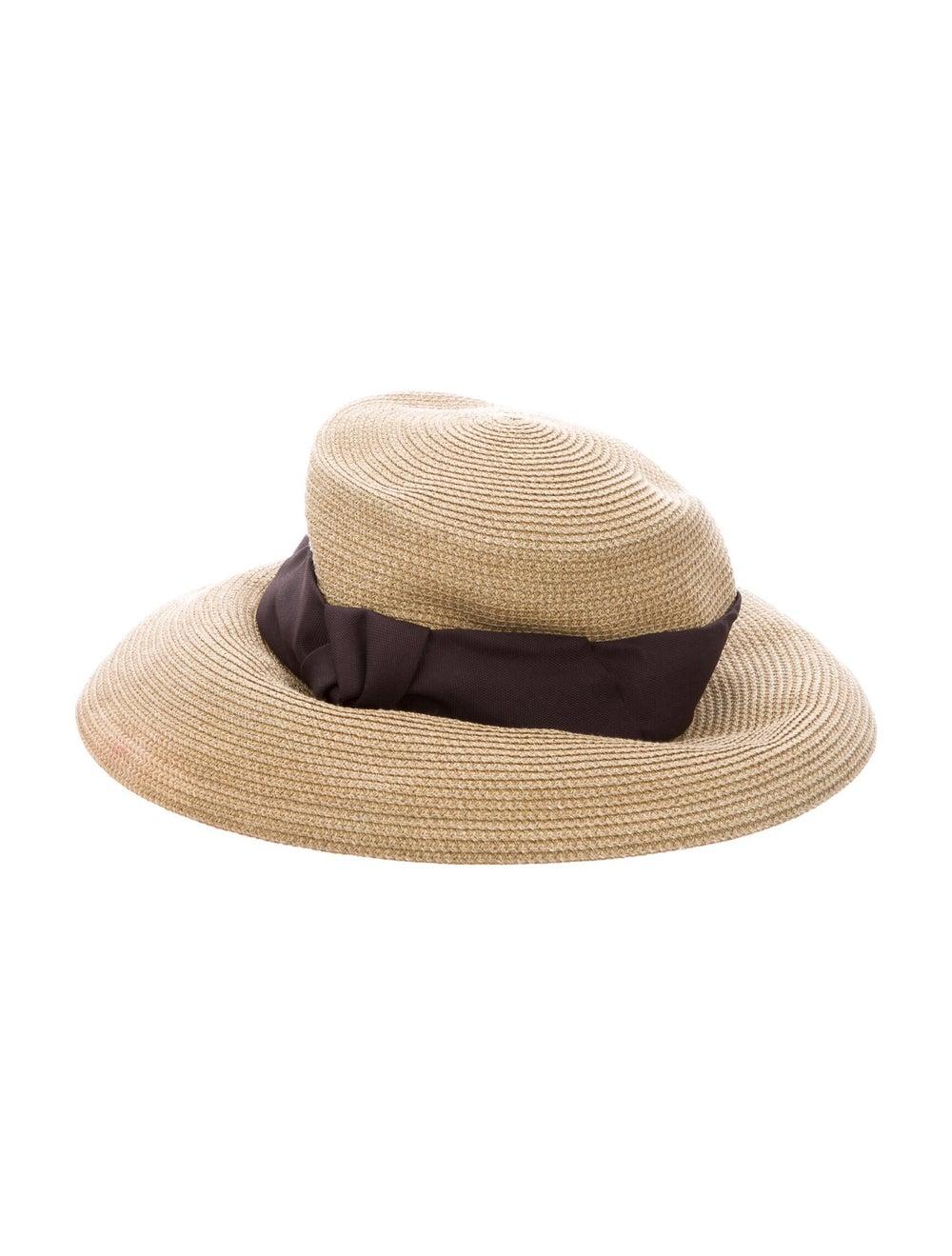 Eric Javits Straw Wide Brim Hat Tan - image 1