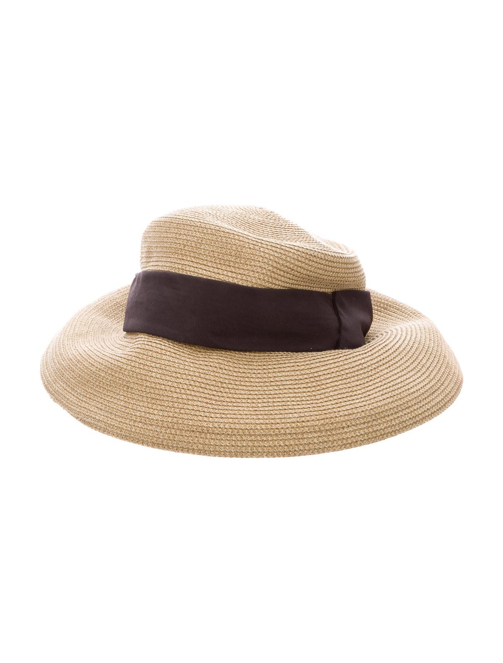 Eric Javits Straw Wide Brim Hat Tan - image 2