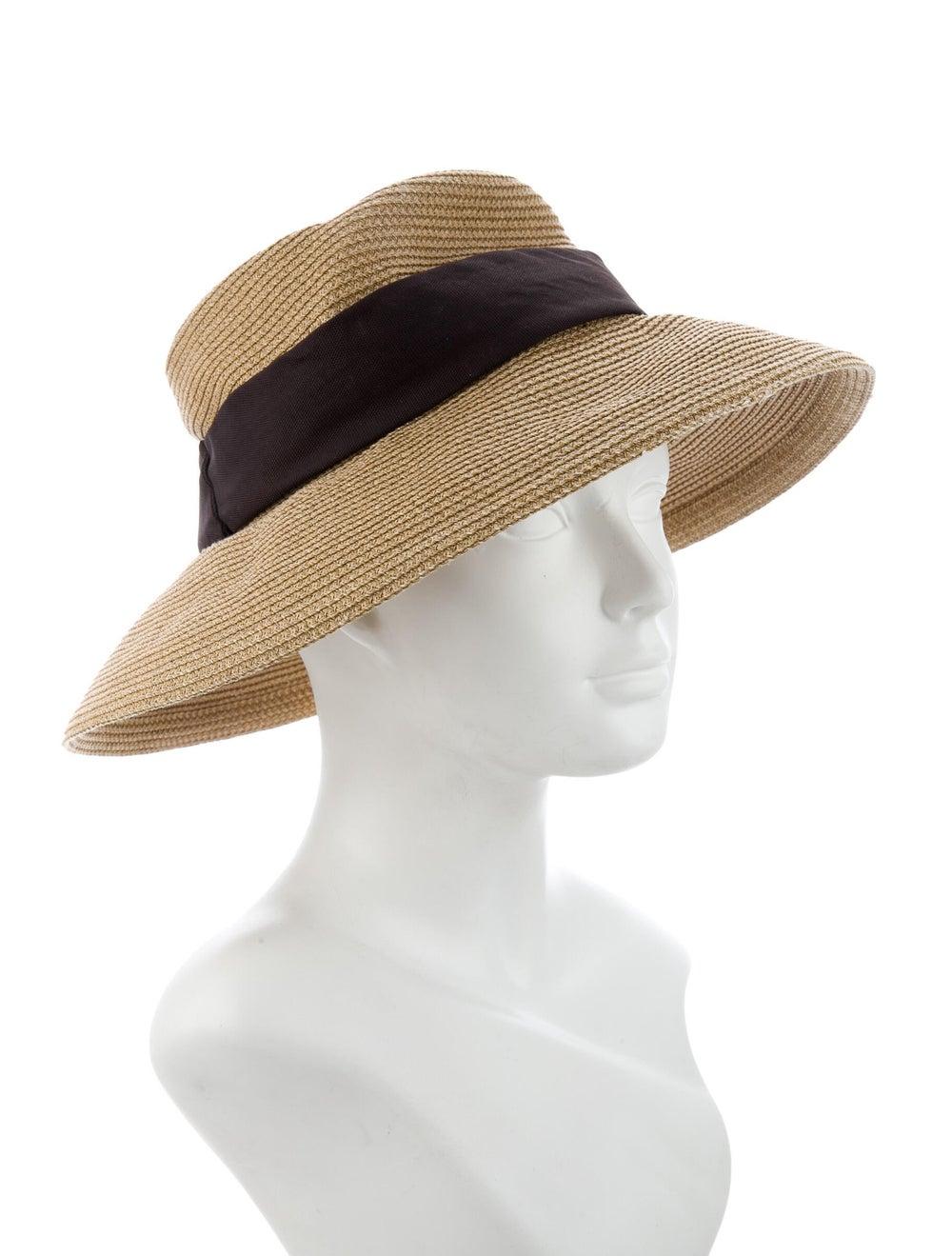 Eric Javits Straw Wide Brim Hat Tan - image 3