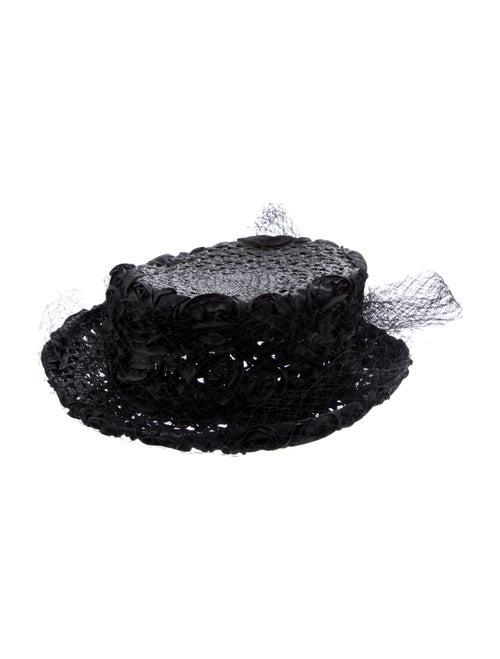Eric Javits Black Eric Javits Straw Fedora Hat Bla