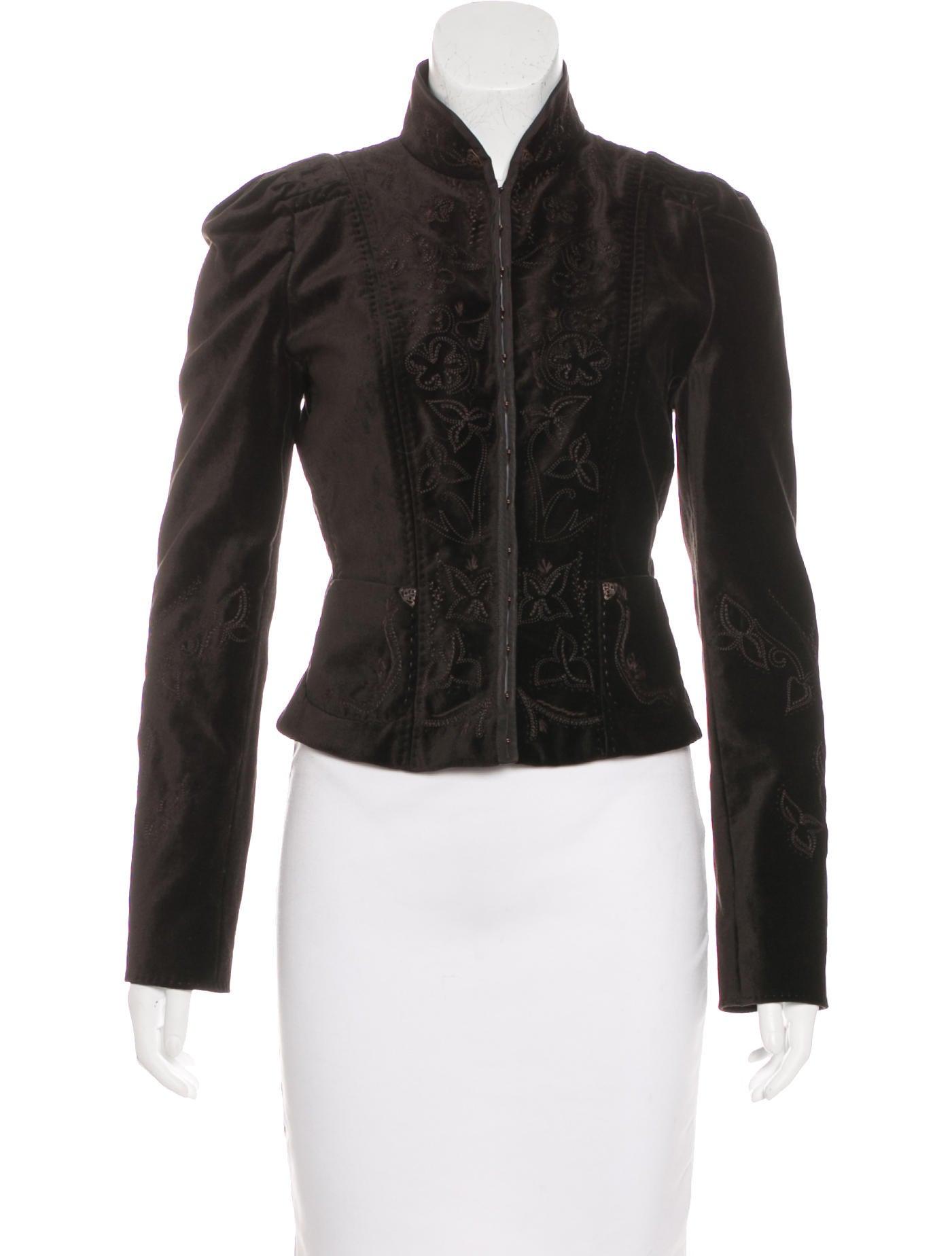 Elie tahari velvet embroidered jacket clothing