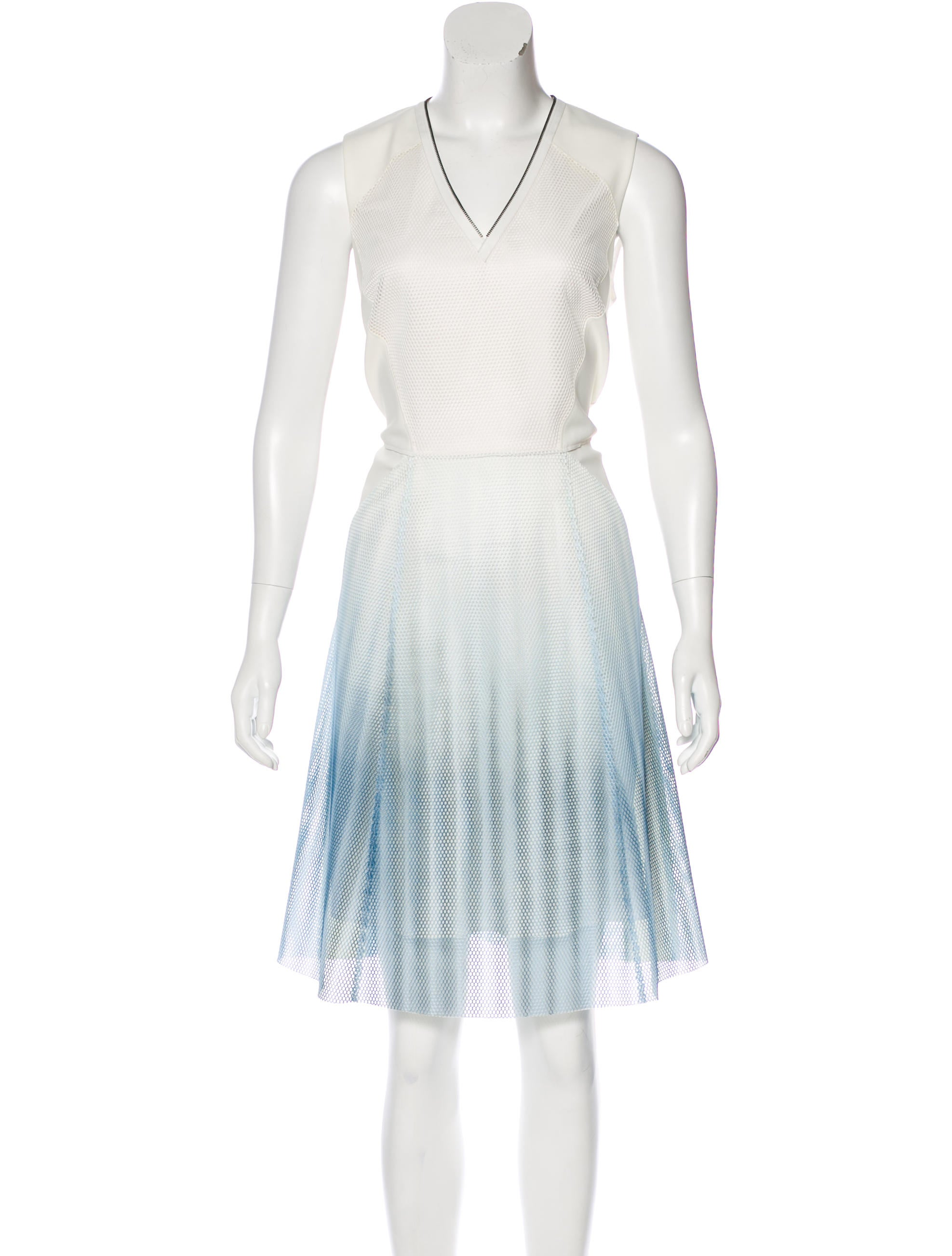 e1ad8b789726 Elie Tahari Mesh-Accented Ombré Dress w/ Tags - Clothing - WEL21126 ...
