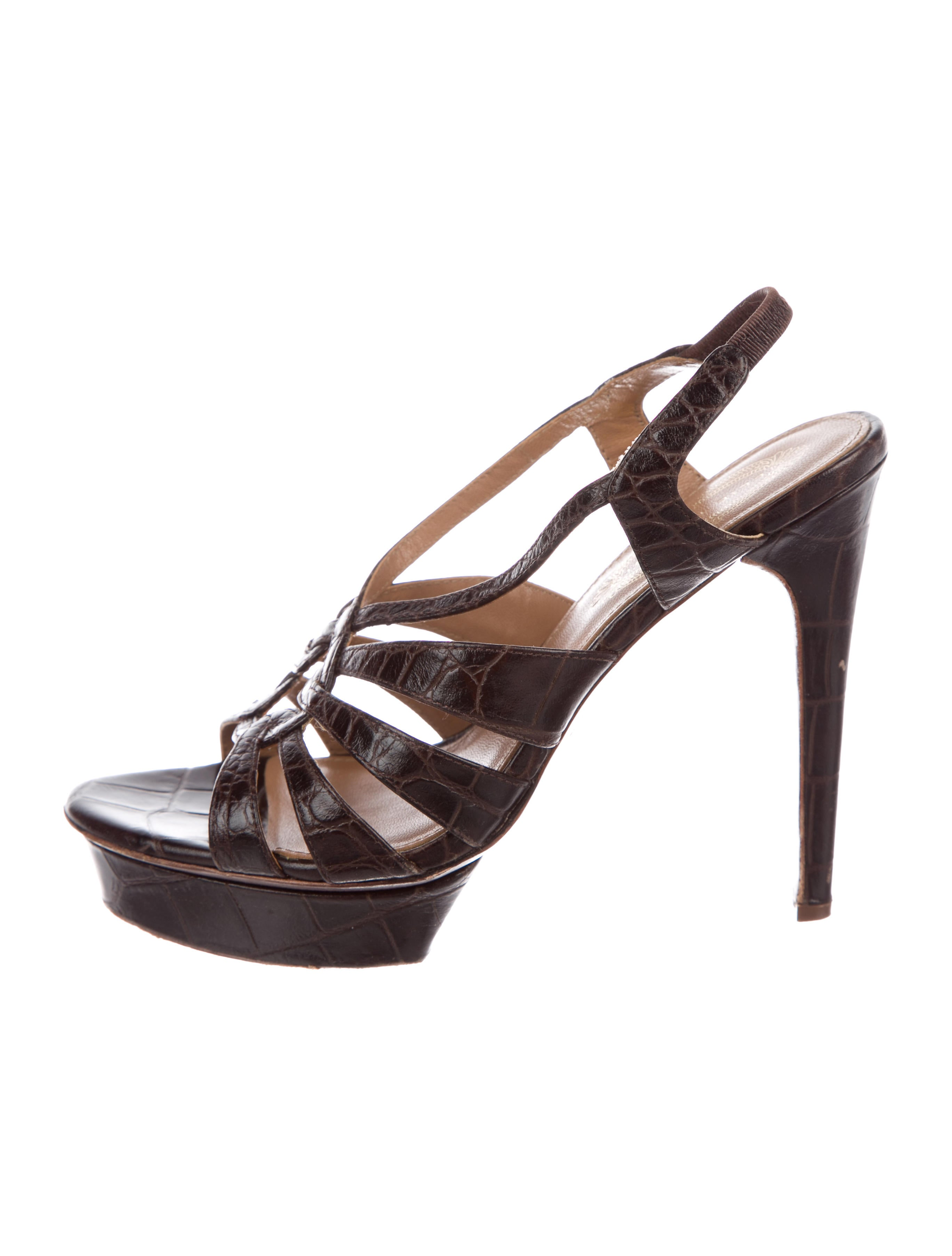 Elie Tahari Embossed Platform Sandals discount pay with paypal cheap online QcHiVVj