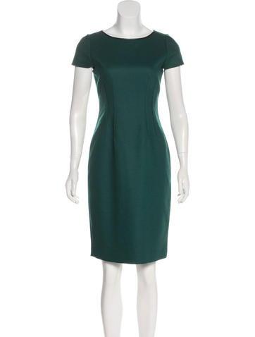 Wool Cap Sleeve Dress