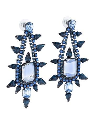 Crystal Pear Earrings