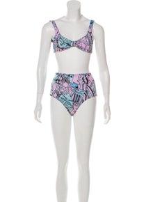 Ellie Rassia Far Away High-Waisted Bikini