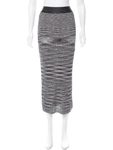 Ellery Rib Knit Midi Skirt w/ Tags None