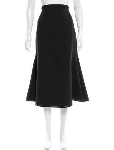 Ellery Flounce Midi Skirt
