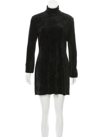 Ellery Rib Knit Velvet Dress None