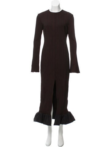 Ellery Rib Knit Maxi Dress None