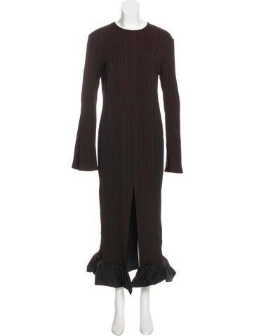 Ellery Rib Knit Maxi Dress None
