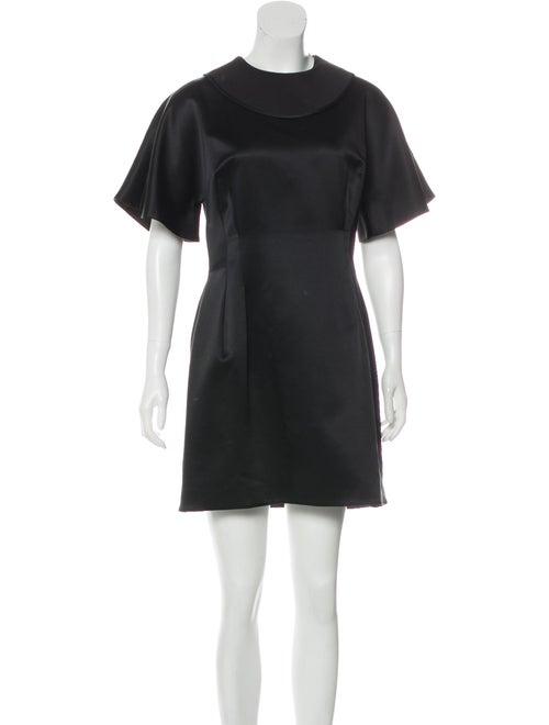 Ellery Mini Satin Dress Black