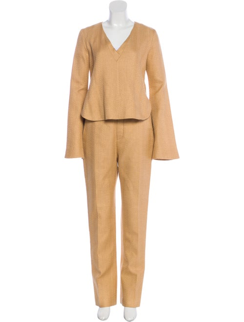 Ellery Tweed Pant Set w/ Tags Tan