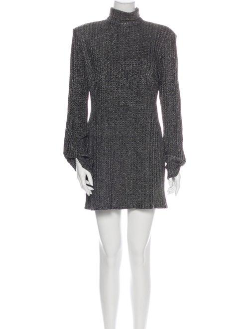 Ellery Turtleneck Mini Dress Grey