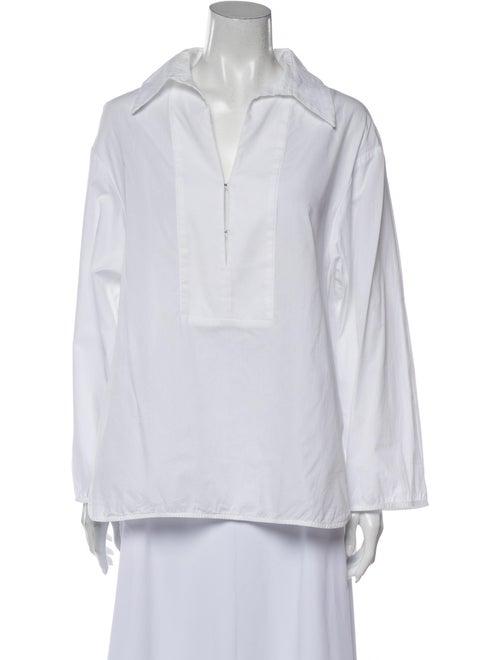 Ellery Long Sleeve Blouse White