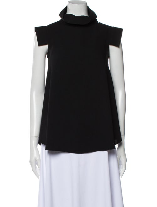 Ellery Turtleneck Short Sleeve Top Black