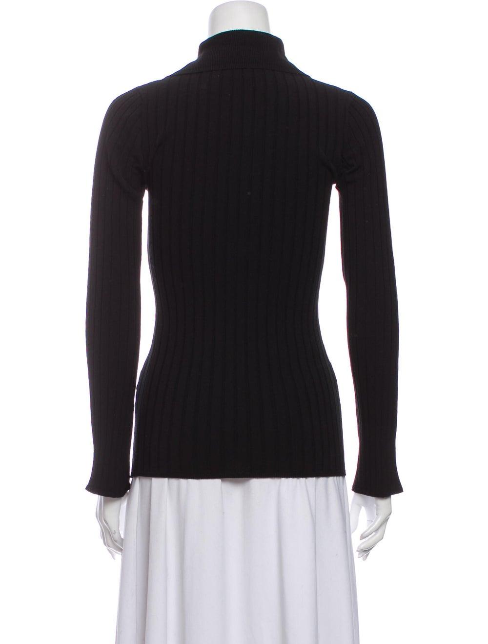 Ellery Striped Mock Neck Sweater Black - image 3