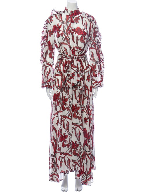 Ellery Silk Long Dress White