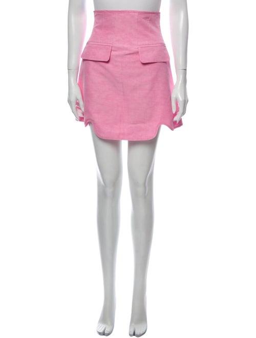 Ellery Linen Mini Skirt Pink