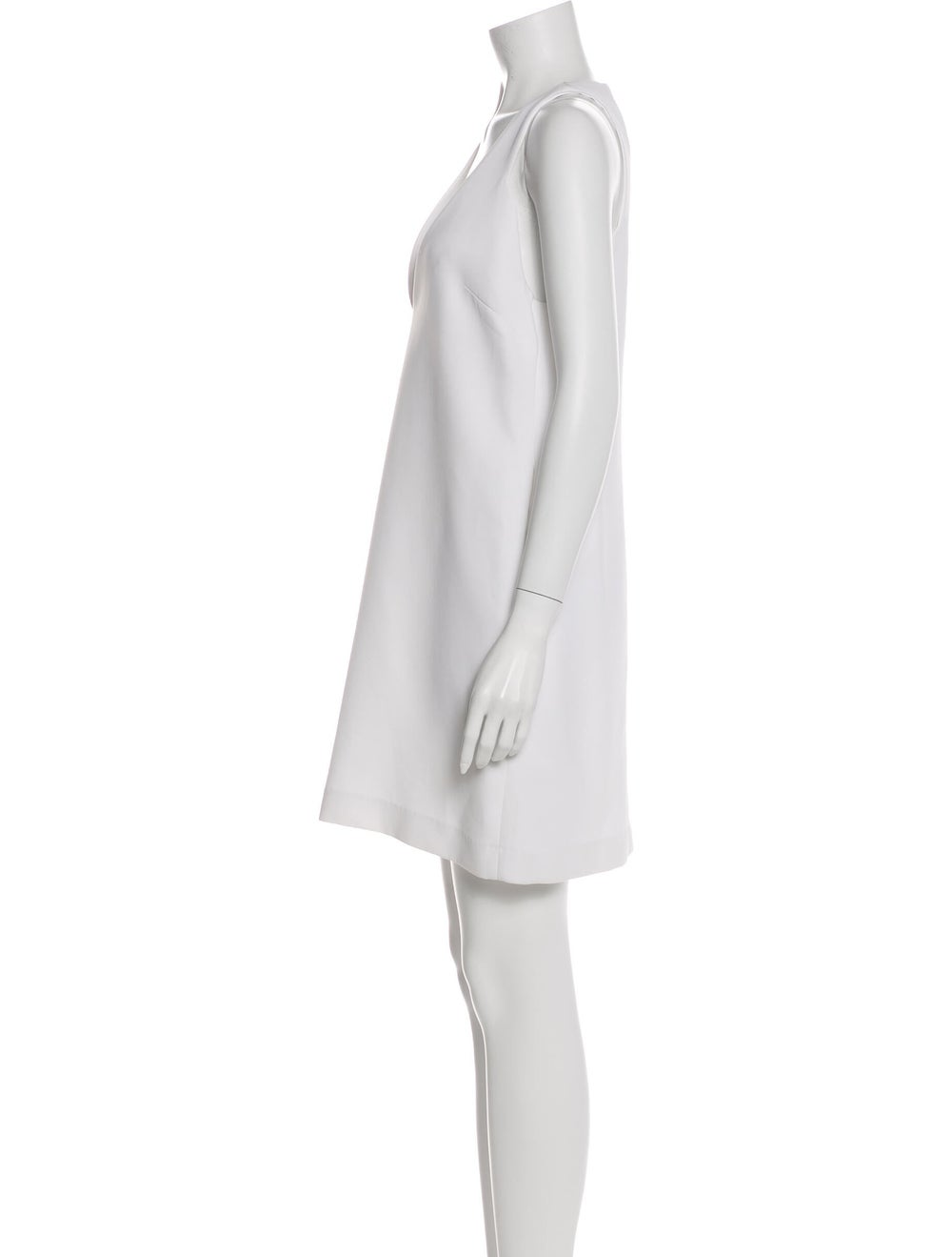 Ellery Plunge Neckline Mini Dress White - image 2